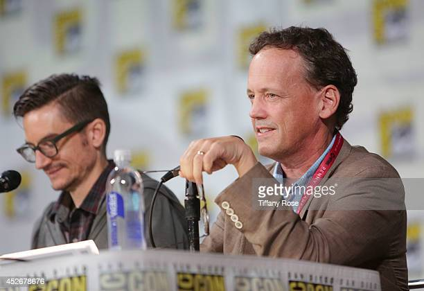 Actor Dee Bradley Baker speaks at the Legend of Korra panel at the 2014 San Diego ComicCon International Day 3 on July 25 2014 in San Diego California