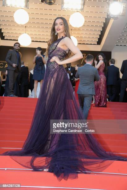 Actor Deepika Padukone attends the 'Ismael's Ghosts ' screening and Opening Gala during the 70th annual Cannes Film Festival at Palais des Festivals...