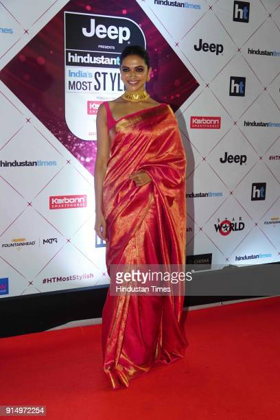 Actor Deepika Padukone during Hindustan Times India's Most Stylish Awards 2018 at Yash Raj Studios Andheri on January 24 2018 in Mumbai India