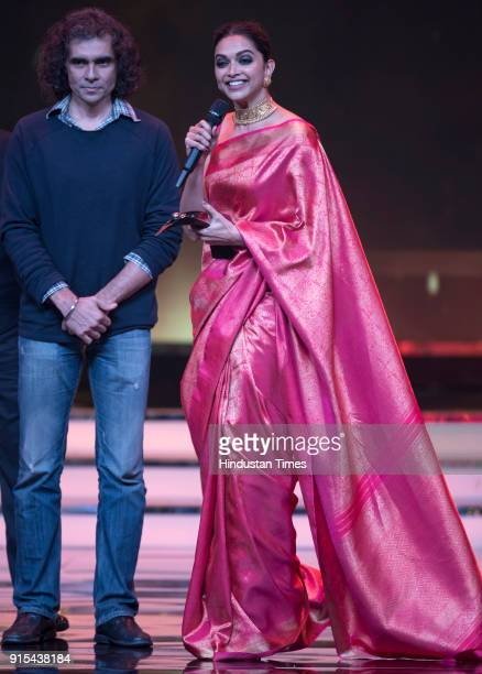 Actor Deepika Padukone receives the Indias Most Stylish award from director Imtiaz Ali during Hindustan Times India's Most Stylish Awards 2018 at...