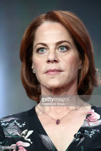 Actor Deirdre Lovejoy of 'I Am Elizabeth Smart' speaks onstage during the Lifetime and A+E portion of the 2017 Summer Television Critics Association...