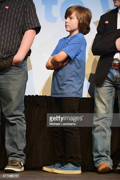 Actor Deke Garner takes part in a QA following the Hellion premiere during the 2014 SXSW Music Film Interactive Festival at the Topfer Theatre at...