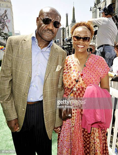 Actor Delroy Lindo and his wife Neshormeh Lindo arrive at the premiere of Disney Pixar's Up at the El Capitan Theater on May 16 2009 in Los Angeles...