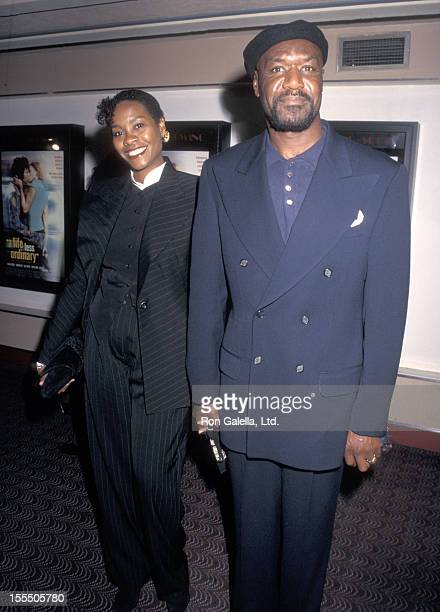 Actor Delroy Lindo and wife Neshormeh Lindo attend A Life Less Ordinary New York City Premiere on October 3 1997 at Village East Cinemas in New York...