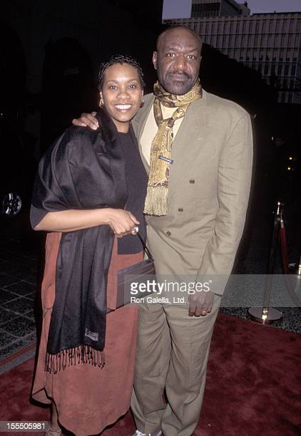 Actor Delroy Lindo and wife Neshormeh Lindo attend the 72nd Annual Academy Awards PreParty Hosted by Miramax Films on March 25 2000 at Beverly...