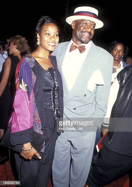 Actor Delroy Lindo and wife Neshormeh Lindo attend the Clockers New York City Premiere on September 11 1995 at Ziegfeld Theater in New York City