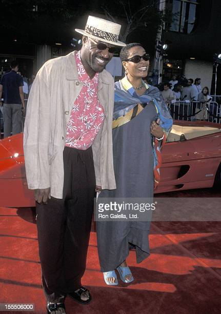 Actor Delroy Lindo and wife Neshormeh Lindo attend the Gone in 60 Seconds Westwood Premiere on June 5 2000 Mann National Theatre in Westwood...