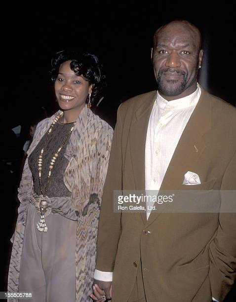 Actor Delroy Lindo and wife Neshormeh Lindo attend the Screening of the HBO Original Movie Soul of the Game on April 17 1996 at DGA Theatre in Los...