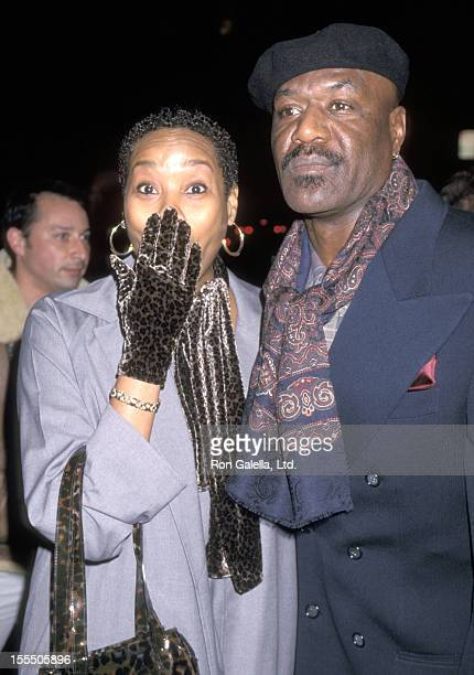 Actor Delroy Lindo and wife Neshormeh Lindo attend the The Cider House Rules Beverly Hills Premiere on December 7 1999 at Samuel Goldwyn Theatre in...