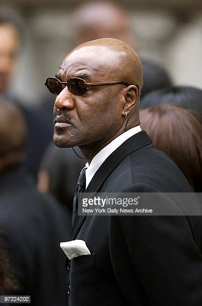 Actor Delroy Lindo who starred with Aaliyah in the movie Romeo Must Die leaves St Ignatius Loyola Roman Catholic Church on E 84th St after attending...