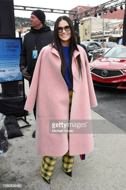 Actor Demi Moore attends Acura Festival Village At The Sundance Film Festival 2019 Day 4 on January 28 2019 in Park City Utah