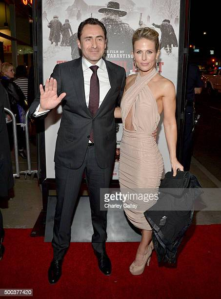 Actor Demian Bichir and Lisset Gutierrez attends the world premiere of The Hateful Eight presented by The Weinstein Company at ArcLight Cinemas...