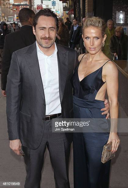 Actor Demian Bichir and wife Lisset Gutierrez attend the Fox Searchlight Pictures' Dom Hemingway screening hosted by The Cinema Society And Links Of...