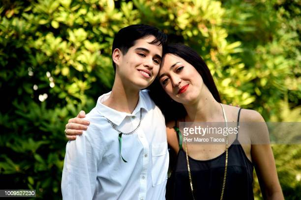 Actor Demian Hernandez and DiDominga Sotomayor pose for a portrait session during the 71st Locarno Film Festival on August 2 2018 in Locarno...