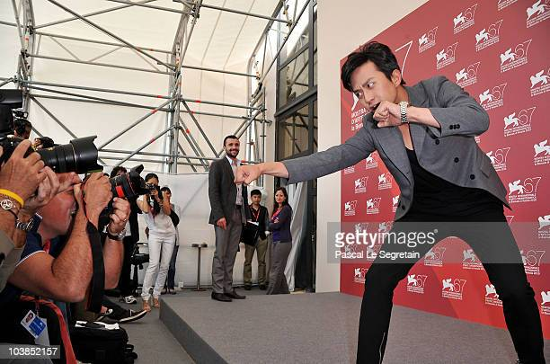 Actor Deng Chao attends the Detective Dee And The Mystery Of Phantom Flame photocall during the 67th Venice Film Festival at the Palazzo del Casino...