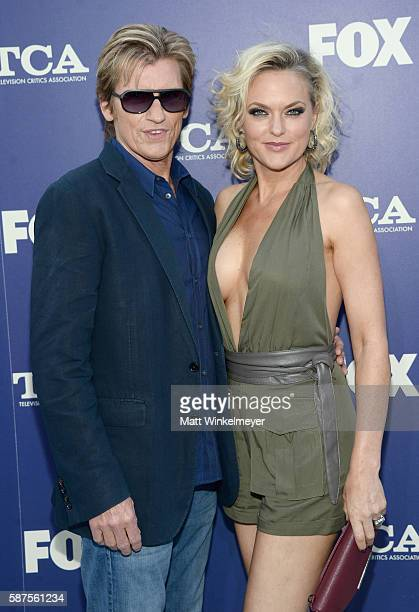 Actor Denis Leary and Elaine Hendrix attend the FOX Summer TCA Press Tour on August 8 2016 in Los Angeles California