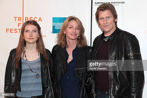 Actor Denis Leary with daughter Devin Leary and wife Ann Lembeck Leary at the premiere of The Infidel during the 2010 Tribeca Film Festival at...