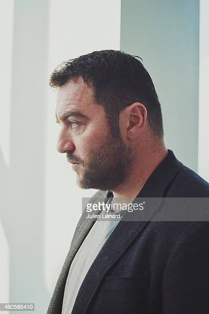 Actor Denis Menochet is photographed for Self Assignment on October 1 2015 in Dinard France