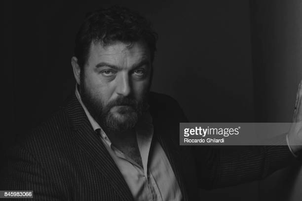 Actor Denis Menochet is photographed for Self Assignment on September 8 2017 in Venice Italy