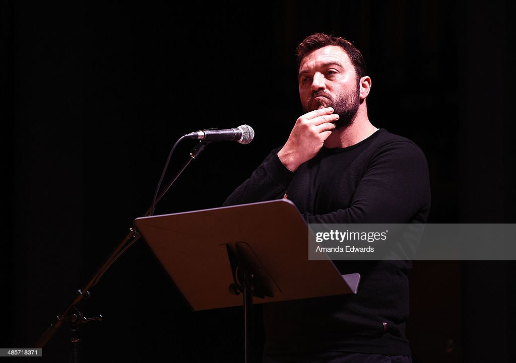 Actor Denis Menochet participates in the world premiere of a staged reading by Quentin Tarantino: 'The Hateful Eight' presented by Film Independent at The Theatre at Ace Hotel Downtown LA on April 19, 2014 in Los Angeles, California.
