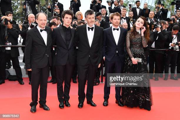 Actor Denis Podalydes actor Vincent Lacoste director Christophe Honore actor Pierre Deladonchamps and actress Adele Wismes attends the screening of...