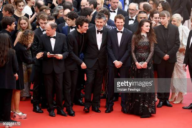 Actor Denis Podalydes actor Vincent Lacoste director Christophe Honore actor Pierre Deladonchamps and actress Adele Wismes attend the screening of...