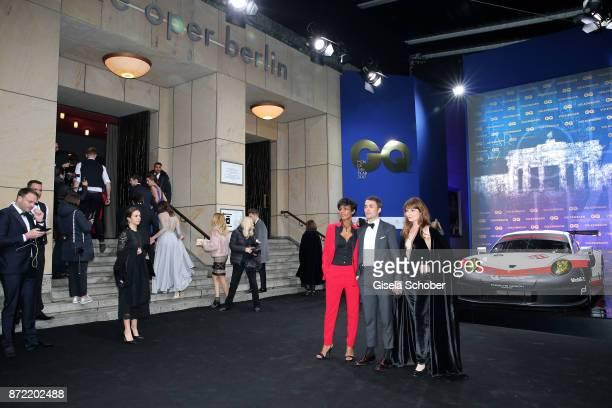 Actor Dennenesch Zoude Actor Nikolai Kinski and girlfriend Ina Paule Klink arrives for the GQ Men of the year Award 2017 at Komische Oper on November...
