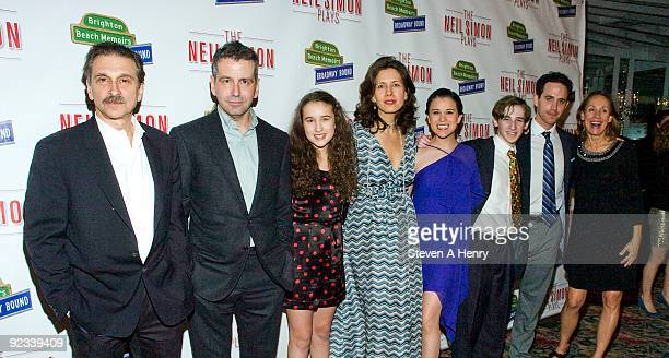 Actor Dennis Boutsikaris director David Cromer actors Gracie B Lawrence Jessica Hecht Alexandra Socha Noah Robbins Santino Fontana and Laurie Metcalf...