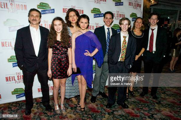Actor Dennis Boutsikaris Gracie B Lawrence Jessica Hecht Alexandra Socha Santino Fontana Noah Robbins Laurie Metcalf and Josh Grisetti attend the...