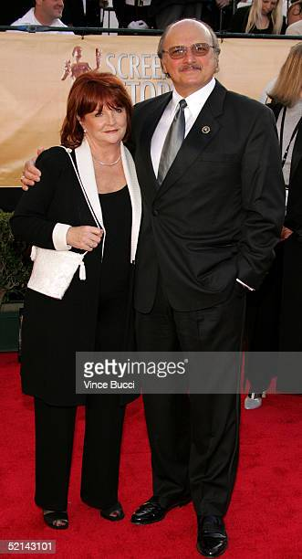Actor Dennis Franz and wife Joanie Zeck arrive at the 11th Annual Screen Actors Guild Awards at the Shrine Exposition Center on February 5 2005 in...