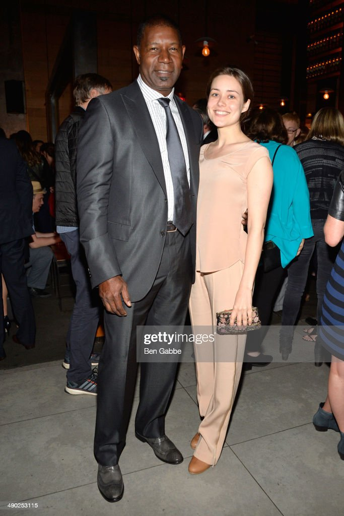 Actor Dennis Haysbert (L) and actress Megan Boone attend the Gersh New York Upfronts Party at Asellina at the Gansevoort on May 13, 2014 in New York City.