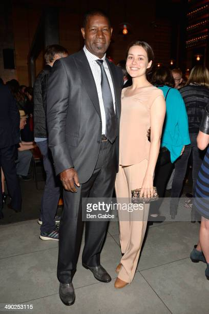 Actor Dennis Haysbert and actress Megan Boone attend the Gersh New York Upfronts Party at Asellina at the Gansevoort on May 13 2014 in New York City