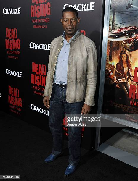 Actor Dennis Haysbert arrives at the premiere of Crackle's Dead Rising Watchtower at Sony Pictures Studio on March 11 2015 in Culver City California
