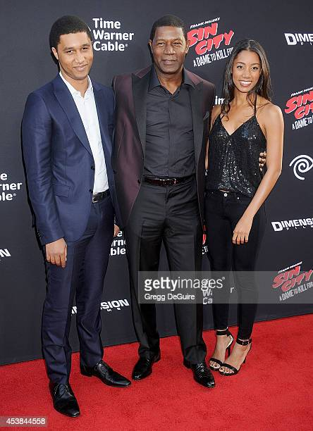 Actor Dennis Haysbert son Charles Haysbert and daughter Katharine Haysbert arrive at the Los Angeles premiere of Sin City A Dame To Kill For at TCL...