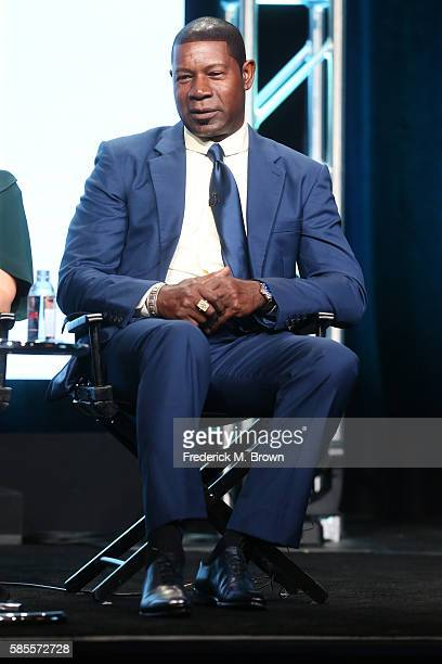 Actor Dennis Haysbert speaks onstage at the 'Incorporated' panel discussion during the NBCUniversal portion of the 2016 Television Critics...