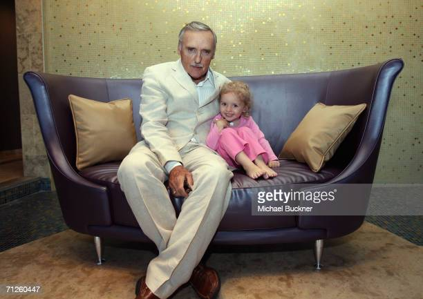 Actor Dennis Hopper and daughter Galen Grier Hopper pose for a portrait during the CineVegas Film Festival on June 15 2006 at the Palms Casino Resort...