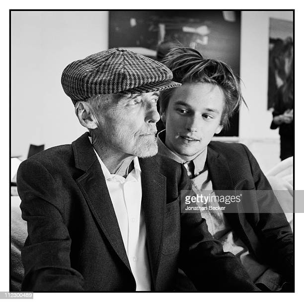Actor Dennis Hopper and his son Henry Lee Hopper are photographed at home for Vanity Fair Magazine on August 1, 2010 in Venice, California.