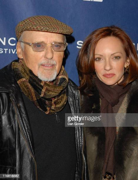 Actor Dennis Hopper and Victoria Duffy attends the premiere of Sleepwalking at Eccles Theatre during the 2008 Sundance Film Festival on January 22...