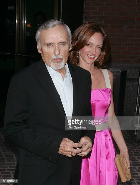 Actor Dennis Hopper and wife Victoria Duffy attend The Cinema Society and Glamour screening of Elegy at the Tribeca Grand Screening Room on August 5...