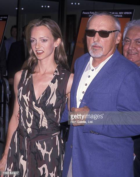 Actor Dennis Hopper and wife Victoria Duffy attend the premiere of 'Apocalypse Now Redux' on July 23 2001 at Alice Tully Hall at Lincoln Center in...