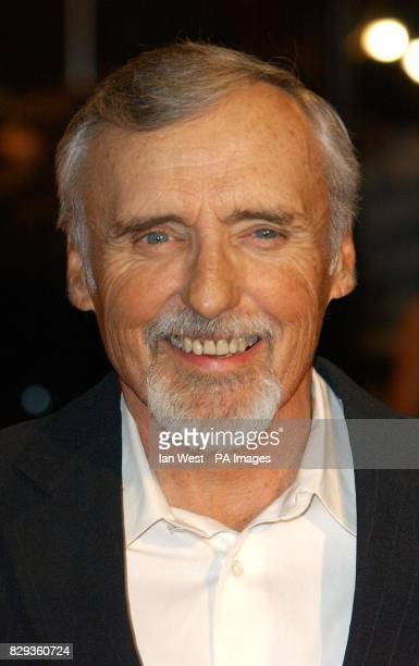 Actor Dennis Hopper arrives for the UK Music Hall Of Fame live final at the Hackney Empire in east London The Channel 4 series looking at popular...