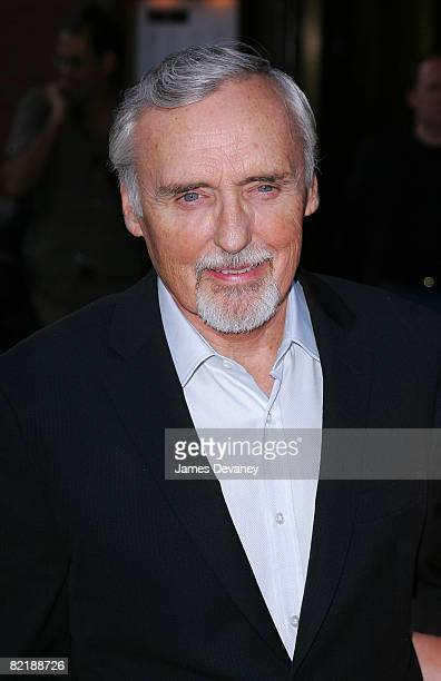 Actor Dennis Hopper arrives to the Elegy screening at the Tribeca Grand on August 5 2008 in New York City