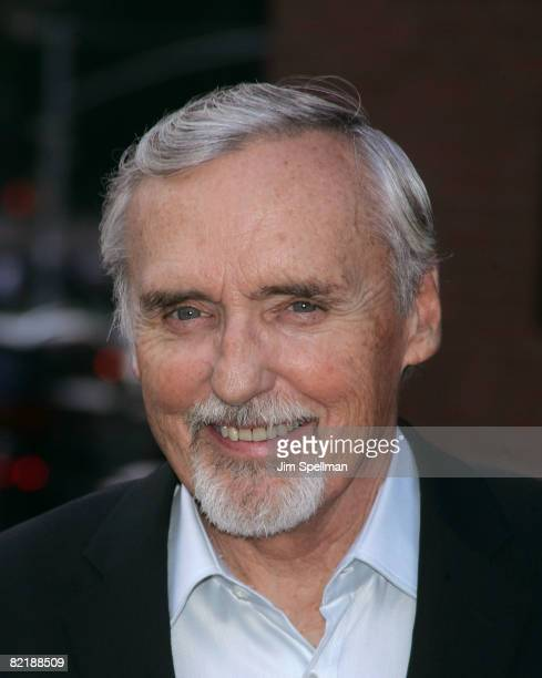 Actor Dennis Hopper attends The Cinema Society and Glamour screening of Elegy at the Tribeca Grand Screening Room on August 5 2008 in New York City