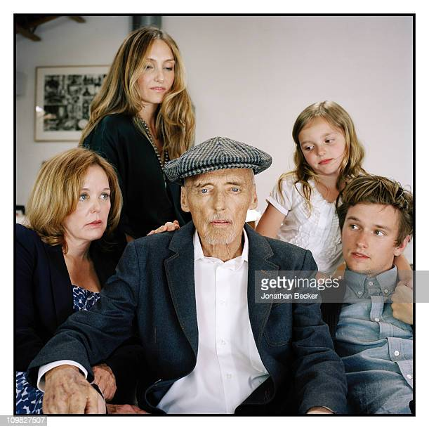 Actor Dennis Hopper is photographed at home with children Marin Ruthanna Galen and Henry for Vanity Fair Magazine on April 23 2010 in Venice...