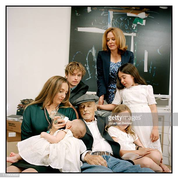 Actor Dennis Hopper is photographed at home with his children Marin Ruthanna Galen Henry and his grandchildren for Vanity Fair Magazine on August 1...