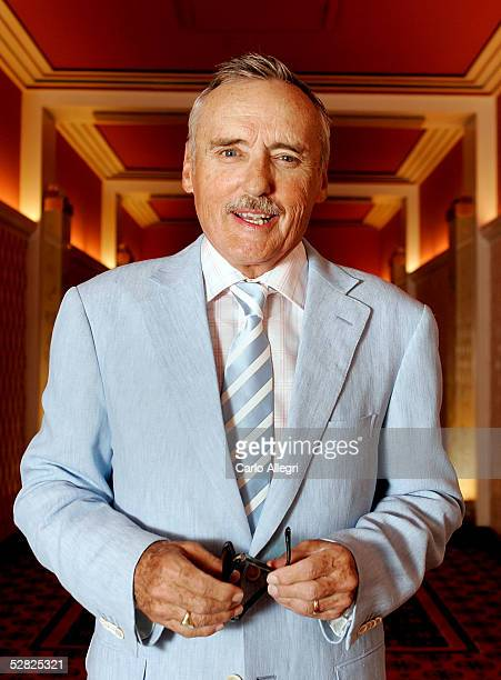 Actor Dennis Hopper poses for a portrait while promoting the film Land of the Dead at the the 58th International Cannes Film Festival May 14 2005 in...