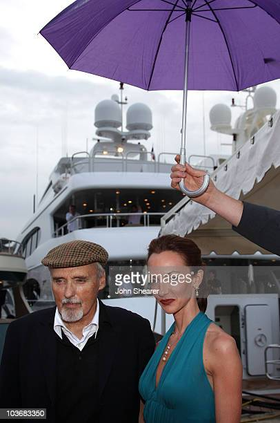 Actor Dennis Hopper with his wife Victoria Duffy attend the Alberta Feretti hosts Che party held on the Yacht Prometej during the 61st Cannes...