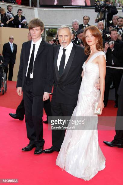 """Actor Dennis Hopper with wife Victoria Duffy son Henry Lee Hopper arrives at the """"Blindness"""" premiere during the 61st Cannes International Film..."""