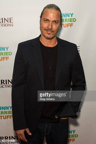 Actor Dennis Larios arrives for the Screening Of Perrine Productions' 'Funny Married Stuff' at the ACME Comedy Theatre on November 7 2016 in Los...