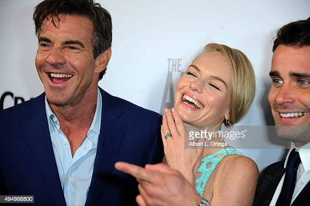 Actor Dennis Quaid actress Kate Bosworth and actor Christian Cooke arrive for the Premiere Of Crackle's 'The Art Of More' held at Sony Pictures...